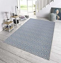bougari Indoor and Outdoor Rug Checked Blue 140 x