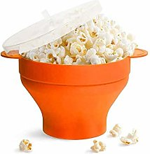 Bounabay Collapsible Microwave Popcorn Bowl, Hot