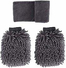 BOUNDAIR 3 Pcs Car Wash Mitts Cleaning Gloves