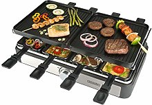 Bourgini Raclette Gourmette Grill Plus for 8 People