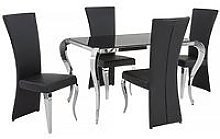 Boutique 139 Cm Glass Dining Table + 4 Chairs