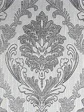 Boutique Corsetto Damask Dark Silver Wallpaper