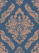 Boutique Damaris Blue / Gold Wallpaper