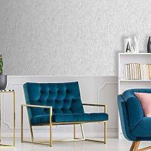 Boutique Dove Grey Deco Textured Plain Wallpaper
