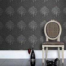 Boutique Enchant Black Wallpaper