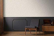 Boutique Ivory Deco Textured Plain Wallpaper