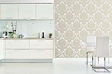 Boutique Ivory Vogue Textured Damask Wallpaper