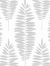 Boutique Lucia White / Silver Wallpaper