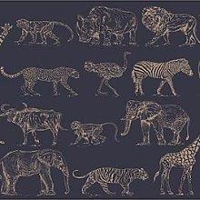 Boutique Safari Midnight Wallpaper