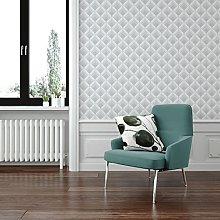 Boutique Silver Trifina Geo Wallpaper