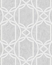 Boutique Soft Grey Art Deco Metallic Geometric