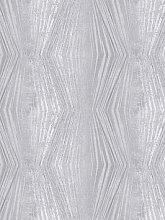 Boutique Vermeil Stripe Silver Wallpaper