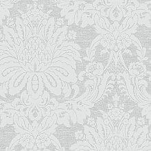 Boutique Vogue Damask Dove Grey Wallpaper