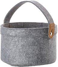 BOVICTUS - Grey Felt Bread Basket - Grey