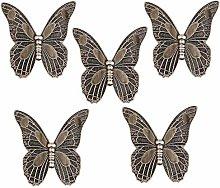 bowarepro 5Pcs Vintage Retro Butterfly Cupboard