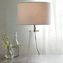 Bowery Table Lamp, Clear, One Size
