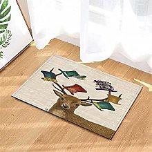 Bowler Hat. Reindeer. Door Mat Front Door Carpet