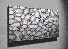 Bowling Pins 3D Photo Canvas Print (44374363) Pins