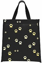 Box Lunch Dog Gold Paw Prints Cooler Large Bag