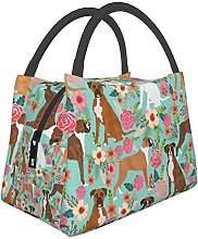 Boxer Dog Cute Dogs Lunch Bag Insulated Lunch Tote