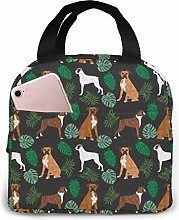 Boxer Monstera Tropical Dog Breed Dark Lunch