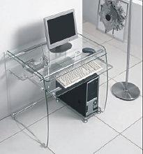 Boxey Clear Glass Computer Desk