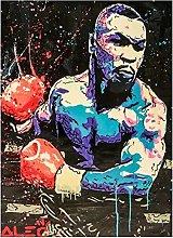 Boxing champion tyson Street Graffiti art Poster