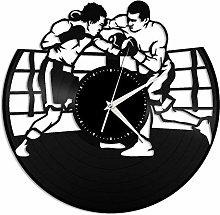 Boxing vinyl wall clock, vinyl record home