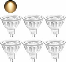 Boxlood 6 Pack MR16 LED Light Bulbs, 12-Volt,