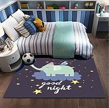 Boy'S Room Bedside Rug Rectangular Floor Mat,