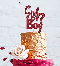 Boy or Girl Cake Topper - Glittery Dark Pink Baby