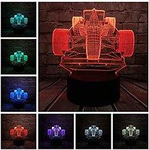 Boyfriend Christmas Gifts 3D Night Light Race Car