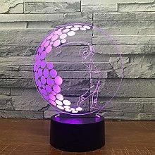 Boyfriend Gifts 3D lamp Night Light Golf 3D Game