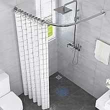 BOYH L Shape Extendable Shower Curtain Rod Curved