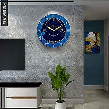 BOYH Modern Wall Clock With Pendulum Digital