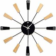 BOYH Wooden Fashion Mute Wall Clock 3d Sunburst