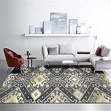 Boys Bedroom Rug Aesthetic Room Decor Yellow gray