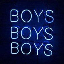 Boys Boys Boys Neon Sign Light, Handmade Real