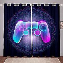 Boys Gamepad Window Curtain Gamer Curtains for