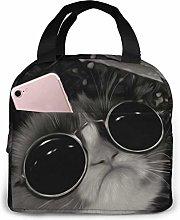 Boys Girls Insulated Neoprene Lunch Bag Cool Cat