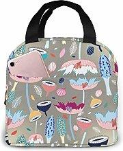 Boys Girls Insulated Neoprene Lunch Bag Plant