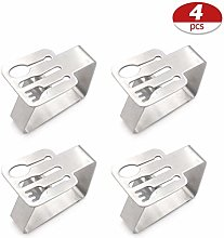 Bozaap Table Cloth Clips,4 Pieces Stainless Steel