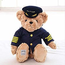 bozhengzb Cute Pilot Teddy Bear Plush Toy Captain