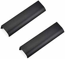 BOZONLI 2pcs Cabinet Handles, Black Aluminum Alloy