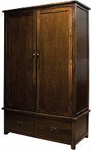 Bozz Antique Wardrobe - Dark Brown Large
