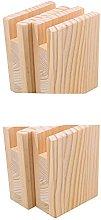 BQLZR 10x5x13.2cm Wood Table Desk Bed Risers Lift