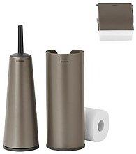 Brabantia 3 Piece Toilet Accessory Set - Platinum