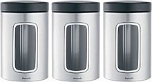 Brabantia 335341 Stainless Round Window Canister,