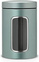 Brabantia 484360 Round Canister Jar with Window