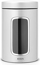 Brabantia Window Canister, 1.4 L - Metallic Grey